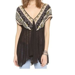 Free People We Are Golden tunic